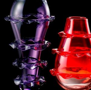Plisset Murano vases collection