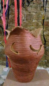 Terracotta Vase lamp