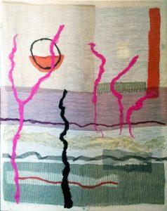 Frame-Fabric-100x125-Textile art Denise Gemin
